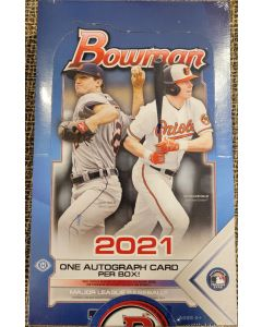 2021 Bowman Hobby Box 24 pk  1 Auto per case (orange and die cuts) only in Hobby.