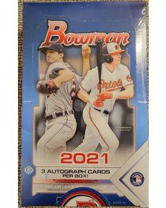 2021 Bowman Jumbo 12 Pack Box 3 autos a box