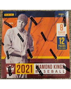 2021 Diamond King Baseball Hobby box 12 packs 8 cards a pack  2 auto/relics per box on average