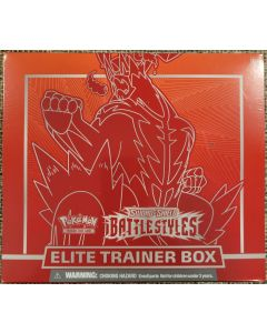 Pokemon S&S Battlestyles Trainer box w/8 packs of Battlesyles dice/card sleeves and collectors book