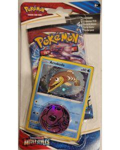 "pokemon S&S Battlestyles ""Arrokuda"" foil  card w/1 pack"