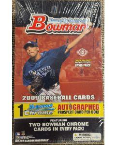 2004 Bowman Hobby Box 24 packs 8 cards per pack 1 chrome auto per box
