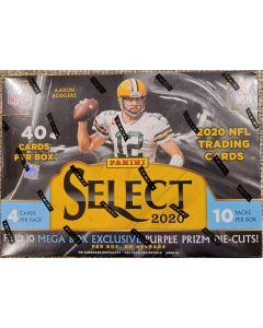 2020 Select Football Target Mega-box 10 packs 4 cards, look for ultra-rare zebra die/cut and Prizm Purple