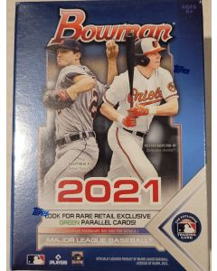 2021 Bowman Blaster Box 6 packs 12 cards a pack look for green parallels