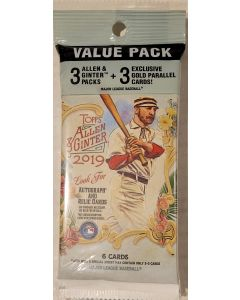2019 Allen & Ginter Cello pack 3 packs with 3 gold cards
