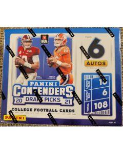 2021 Contenders Draft Football FOTL Hobby box 6 autos 6 packs 18 cards