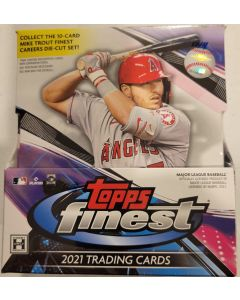 2021 Finest Baseball Hobby 12 packs 5 cards a box 2 auto's per box
