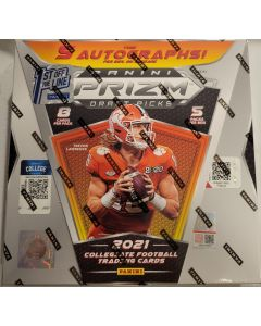 2021 prizm Draft Football FOTL 5 packs 8 cards, 5 Auto's, 5 Silvers, 10 other Prizms