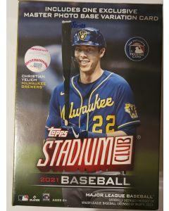 2021 Stadium Club Blaster Box 8 packs 5 cards/pack  look for chrome