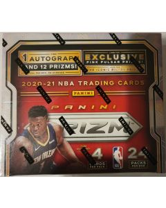 2020-21 Prizm Basketball Retail 24pk 4 cards pack Box 1 auto and 12 prizm per box on average