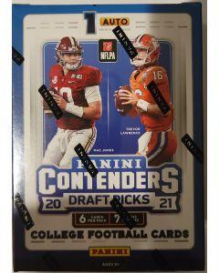 2021 contenders Draft Pick Football Blaster 7 packs 6 cards 1 auto per box on average.