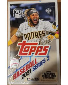 2021 Topps Series 2 Hobby Box 24pk look for clear parallels to 10 hobby exclusive