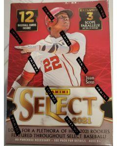 2021 Select Baseball Blaster Box 3 pks 12 cards 1 auto or relic per box
