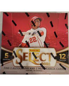 2021 Select Baseball Hobby Box 12 packs 5 cards/pk  2 autos and 2 relics per box per avg.