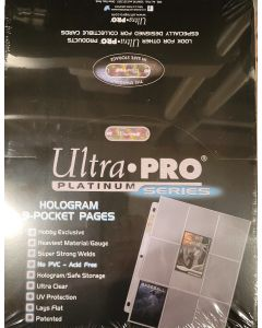 ultra pro 9-Pocket Pages box of 100 (for most baseball cards produced after 1957 to today)