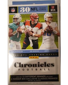 2020 NFL chronicles football Hanger box 30 cards/box classics rookies exclusive