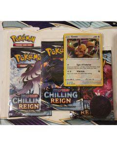 pokemon chilling reign Blister pack Eevee foil w/3 packs