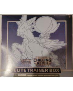 pokemon Chilling Reign EBT Ice Rider Calyrex vmax box set 8 packs + accessories