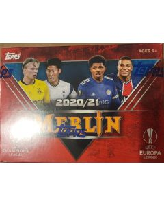 2020-21 Topps Merlin Soccer UEFA Champions League 7 packs 28 cards + 3 card pack of aqua parallel
