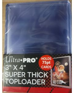 ultra pro 75pt Top Loader (jersey/thick base card) (pk of 25) (#81347)