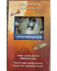 """Decipher Star Wars CCG Enhanced Cloud City """"Slave 1"""" 4pk cloud city + Premium slave 1 card"""