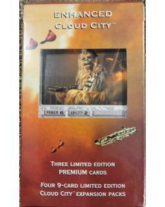 "Decipher enhanced Cloud City ""Chewbacca"" 4 packs cloud city + special card"