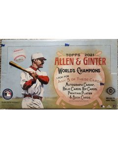2021 Topps Allen & Ginter Hobby Box 24/pk, 8 card pks, 3 hits per box (Auto, relic, rip card, plate, or book cards