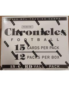 2020 Chronicles NFL Value Fat Pack Box 12 pks/15 Cards/pk
