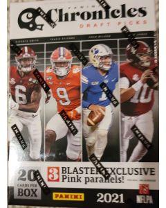 2021 Chronicles Draft Blaster box 5 pks/4 cards/pk 3 pink blaster exclusive per box