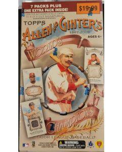 2009 allen & Ginter Blaster Box 8 packs/6 cards  mantle/napoleon relics