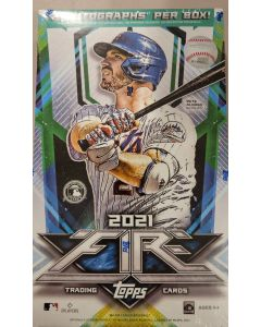 2021 Topps Fire Target exclusive Hobby Style box  20 pks 6 cards a pk  2 autos per box on average
