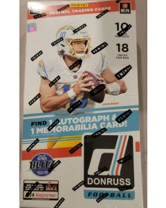 2021 Donruss Football Hobby Box 18 pks 10 cards a pack 1 auto 1 relic  per box on average