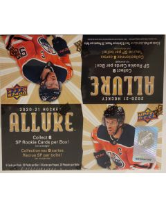 2020-21 Allure Hockey Retail box 20 Packs  look for sp rookies / + other stuff