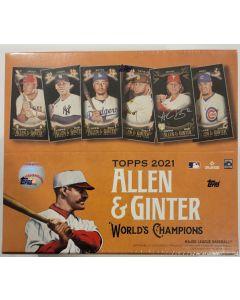 2021 Topps Allen & Ginter X Online only box  1 auto per box on average.