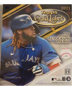 2021 Topps Gold Label Baseball Hobby Box 1 Gold frame auto / box on average