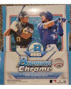 2021 Bowman Chrome Hobby 2 auto + base and color