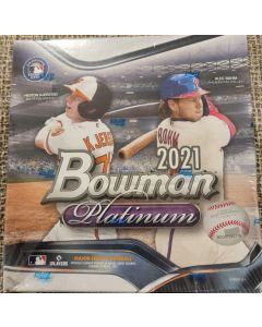 2021 Bowman Platinum Retail 20 pks per box 2 autos per box on average (hobby like box)