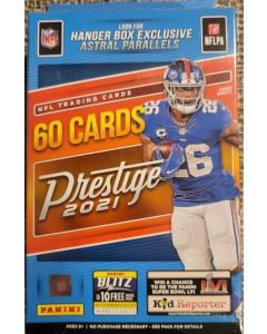 2021 Prestige Football Hanger box 60 cards per box, astral parallels exclusive. Look for ultra rare NFL Drip cards
