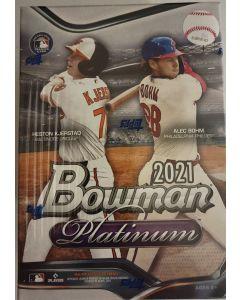 2021 Bowman Platinum Blaster box 8pks / 4 cards/pk 4 exclusive ice parallels