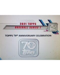 2021 topps Series 1 Jumbo Box 10 packs 46 cards a pk.  3 Hits guaranteed 1 auto / 2 relics