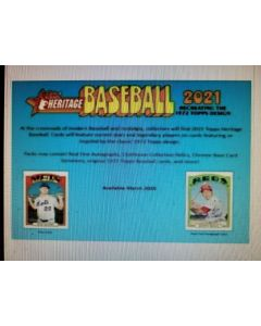 2021 Topps Heritage Hobby Box 24 packs 1 auto or relic per box on average